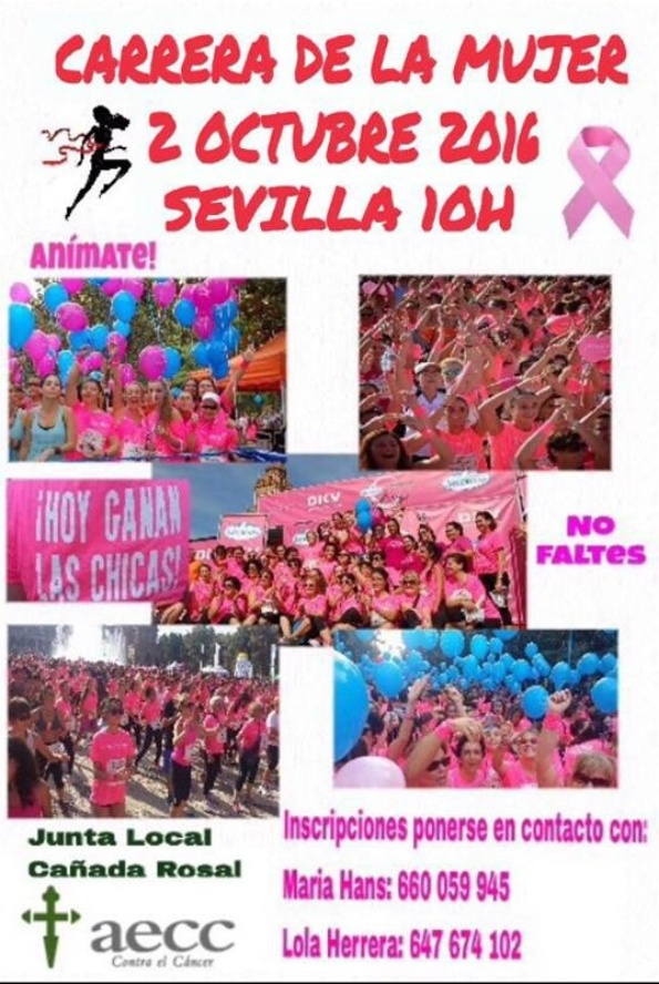 CARTEL CARRERA CANCER MUJER