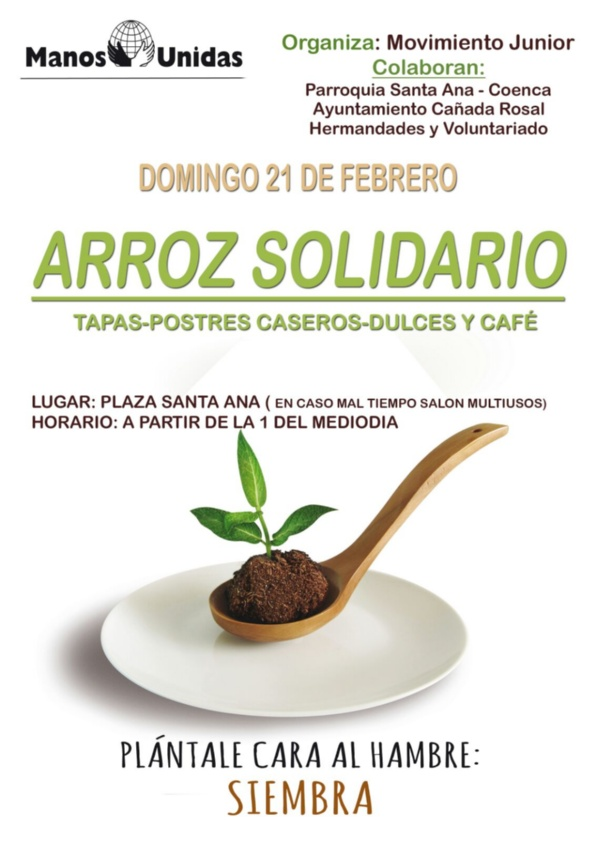 Cartel Arroz Solidario Manos Unidas